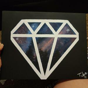 Original Diamond Galaxy 11x14 canvas painting!
